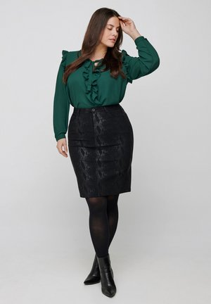 PATTERNED SKIRT - Pencil skirt - black