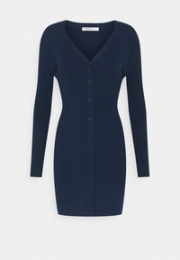 Glamorous Petite - FRONT MINI DRESS LONG SLEEVES - Jumper dress - navy - 0