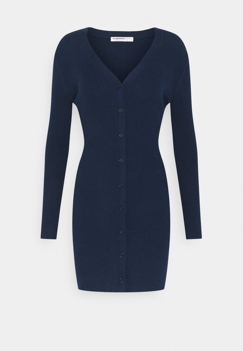 Glamorous Petite - FRONT MINI DRESS LONG SLEEVES - Jumper dress - navy