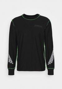 Diesel - T-JUSEAM-LS T-SHIRT UNISEX - Print T-shirt - black - 0