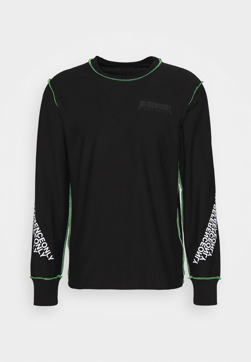 Diesel - T-JUSEAM-LS T-SHIRT UNISEX - Print T-shirt - black