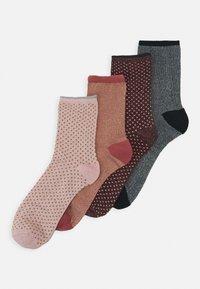 Becksöndergaard - DINA  4 PACK - Socks - desert sand - 0
