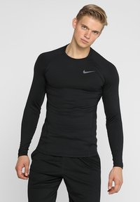Nike Performance - Sports shirt - black/black/dark grey - 0