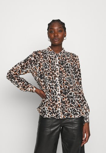 GEORGETTE BLOUSE 2-IN-1 - Blouse - white/black