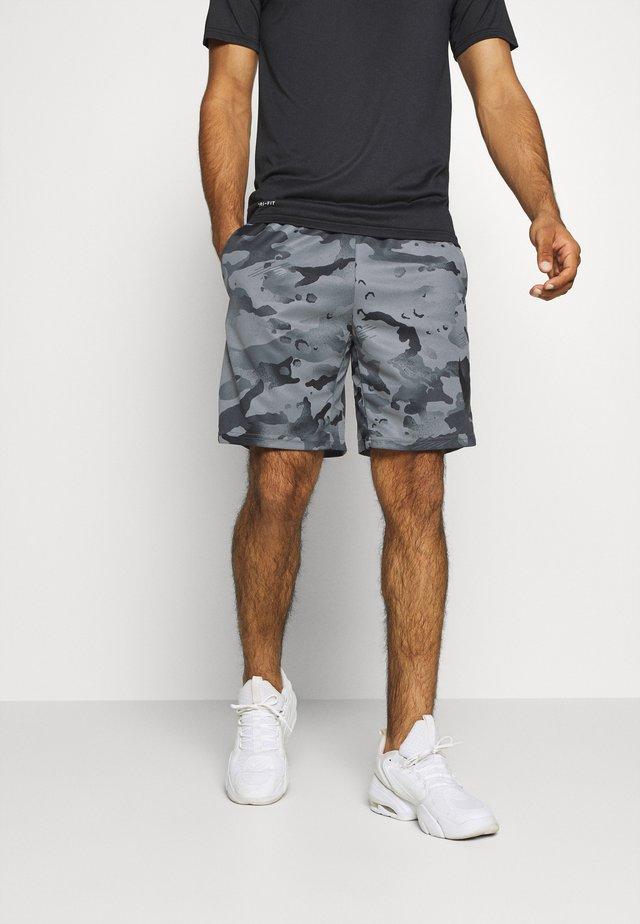 DRY SHORT CAMO - Sports shorts - black/grey fog