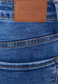 Bershka - SUPER HIGH WAIST - Jeans Skinny Fit - dark blue - 5