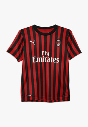 AC MAILAND 1899 HOME SHIRT REPLICA KIDS LOGO - Club wear - tango red/black