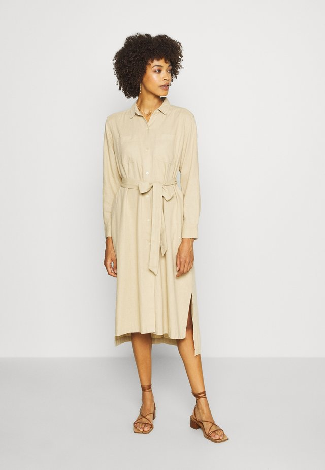 DRESS - Skjortekjole - new sand