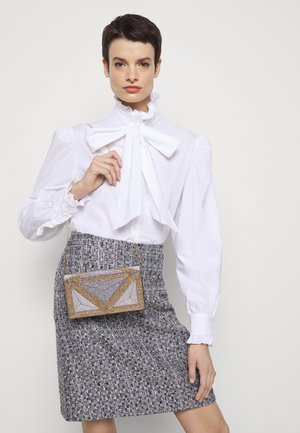 SHOULDER BAG EMBROIDERED - Kopertówka - gold-coloured/black