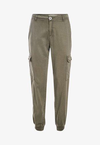 UMWELTFREUNDLICHE  - Pantalones cargo - vert kaki