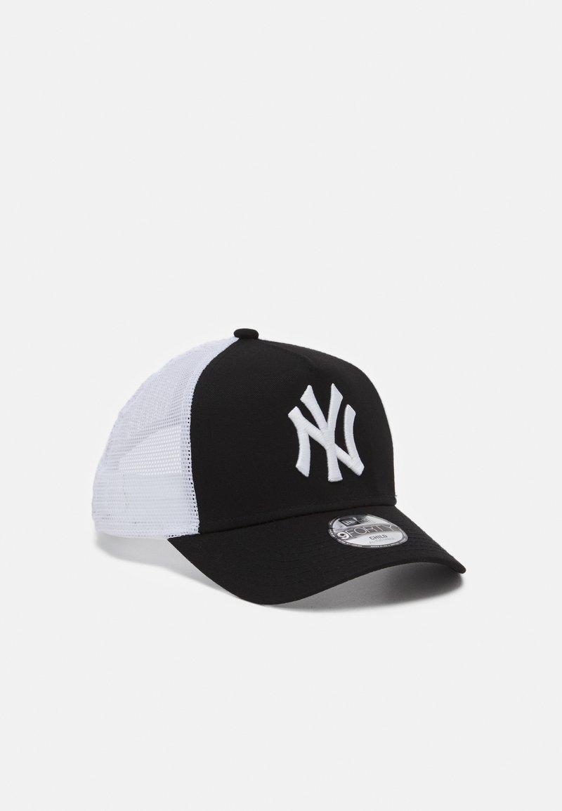 New Era - KIDS ESSENTIAL AFRAME TRUCKER UNISEX - Club wear - black/white