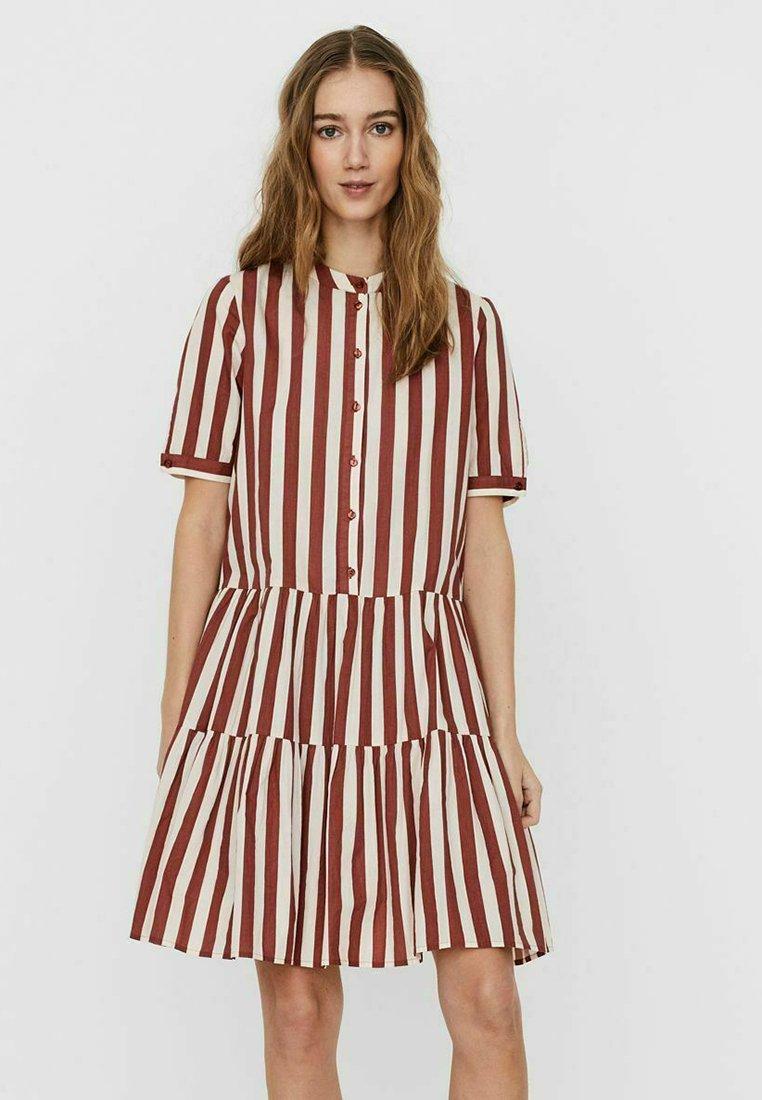 Damer STEHKRAGEN - Skjortekjole