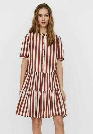 STEHKRAGEN - Shirt dress - marsala