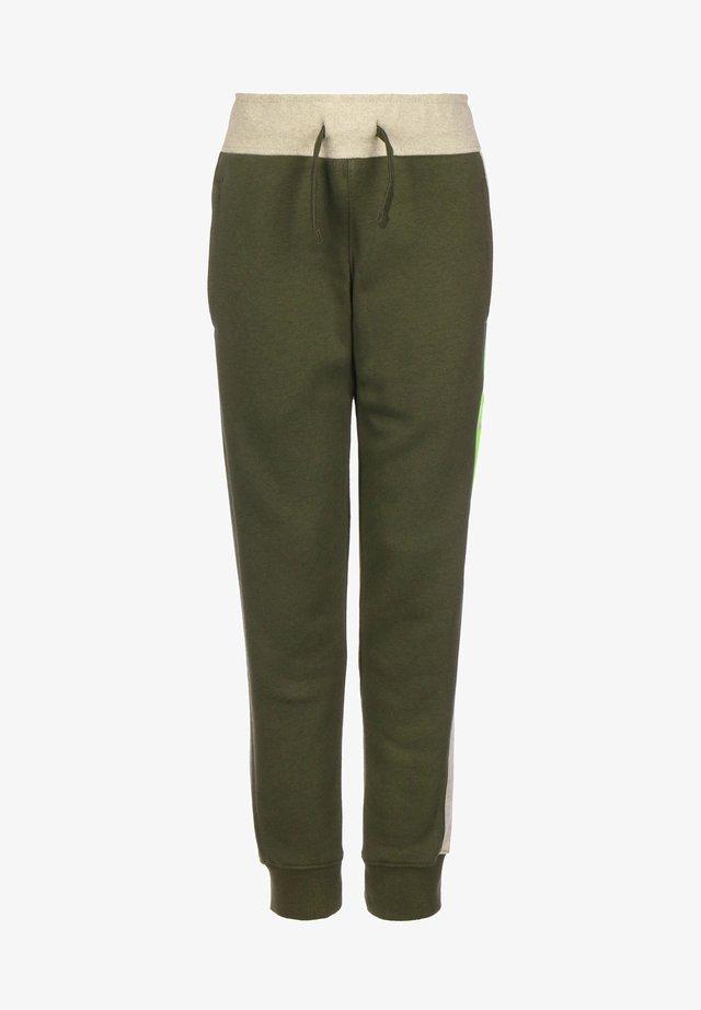 KINDER SPORTSWEAR - Pantalones deportivos - cargo khaki/stone/htr/volt