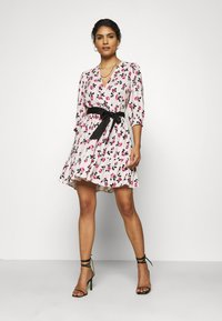 Closet - WRAP GATHERED HEM DRESS - Day dress - pink - 1
