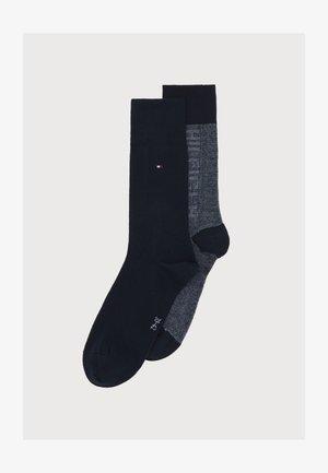 MEN SEASONAL SOCK LOGO 2 PACK - Ponožky - navy