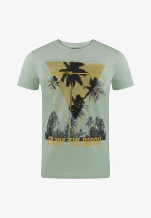 RIVLUKAS - Print T-shirt - grün palme (ajd)