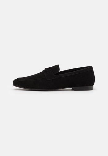 LEATHER - Scarpe senza lacci - black