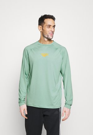 FRANK BASIC LOGO TEE - Long sleeved top - granite green
