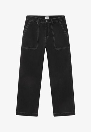 WIDE WORKER - Relaxed fit jeans - night black