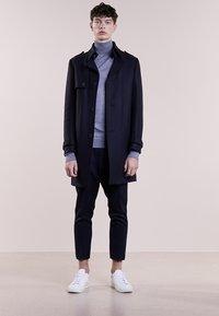 Bruuns Bazaar - CHARLES ROLL NECK - Pullover - mid grey melange - 1