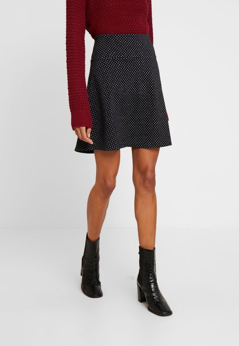 edc by Esprit - FLARED SKIRT - Mini skirt - black