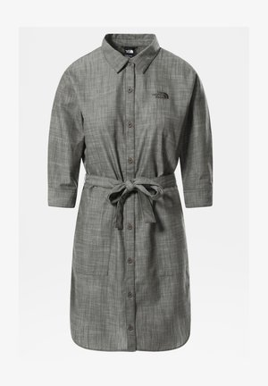 W BERNINA DRESS - Shirt dress - new taupe green chambray
