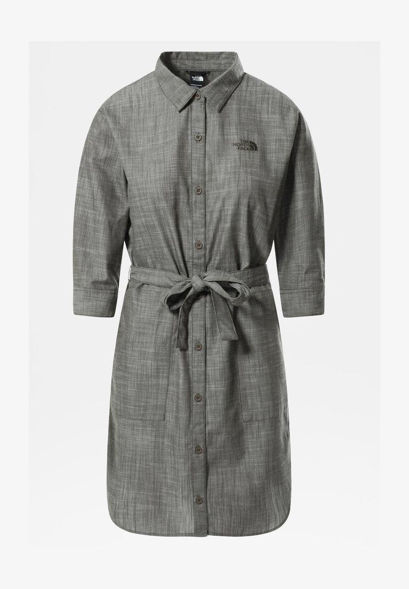 The North Face - W BERNINA DRESS - Shirt dress - new taupe green chambray