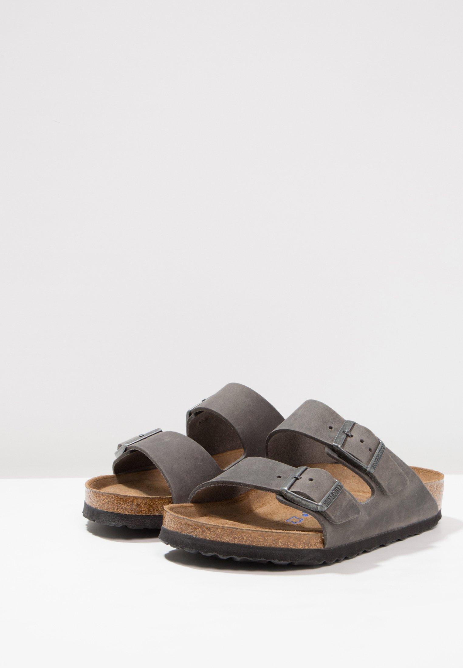 Birkenstock ARIZONA SOFT FOOTBED Pantolette flach iron/dunkelgrau