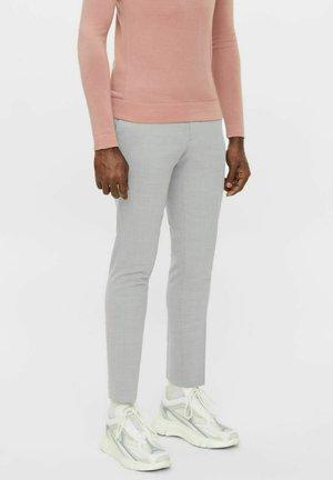 GRANT MICRO STRUCTURE - Spodnie materiałowe - lt grey melange