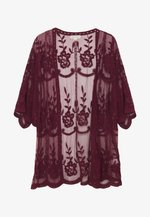 SHORT KIMONO - Leichte Jacke - burgundy