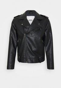 Redefined Rebel - RAUL JACKET - Faux leather jacket - black - 4