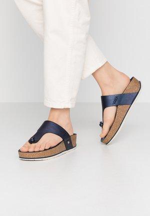 QUINOA SHINE - Sandály s odděleným palcem - dunkelblau