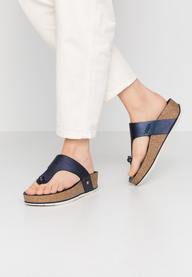 QUINOA SHINE - T-bar sandals - dunkelblau