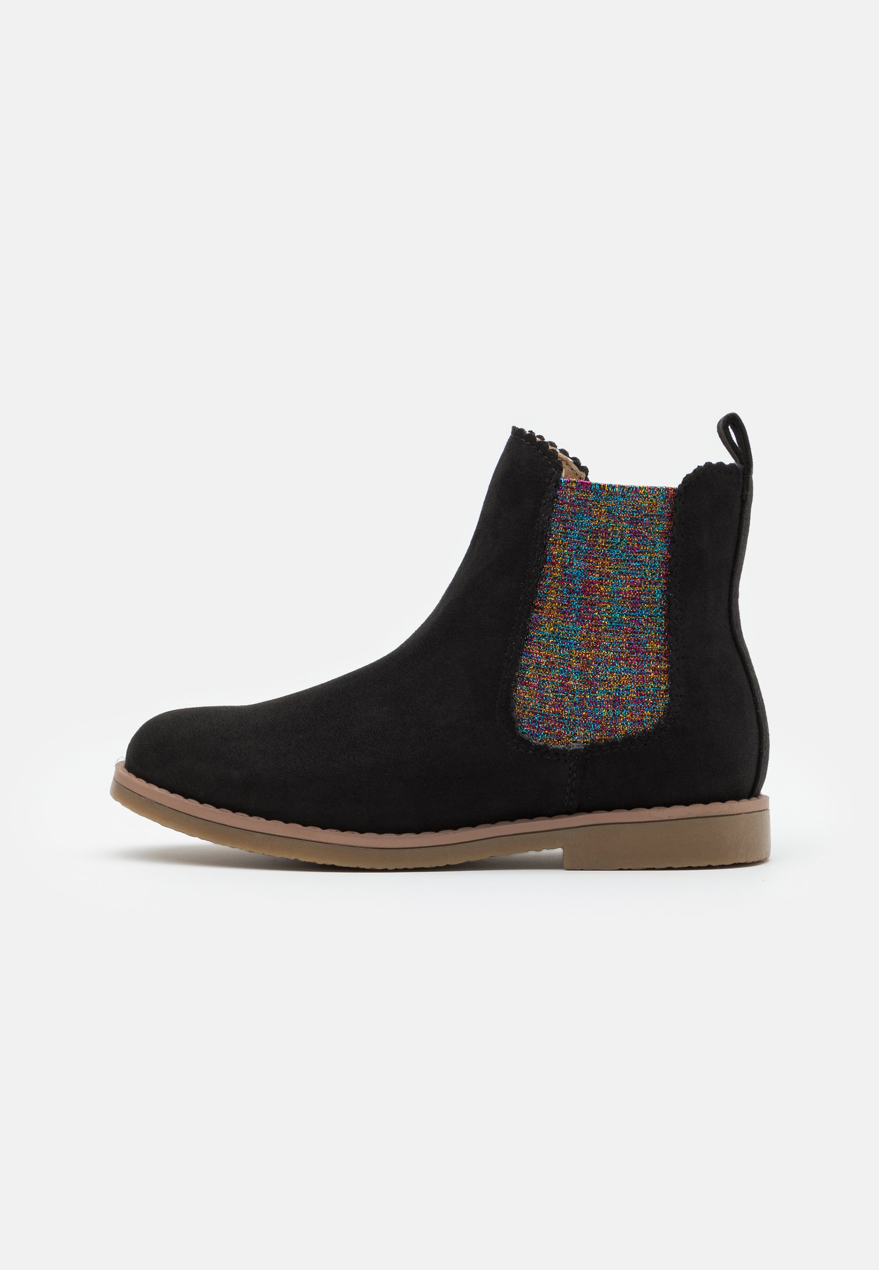 Kids SCALLOP GUSSET BOOT - Classic ankle boots - washed black/rainbow scallop