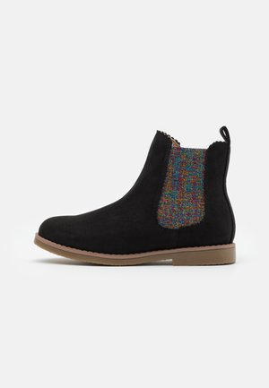 SCALLOP GUSSET BOOT - Korte laarzen - washed black/rainbow scallop