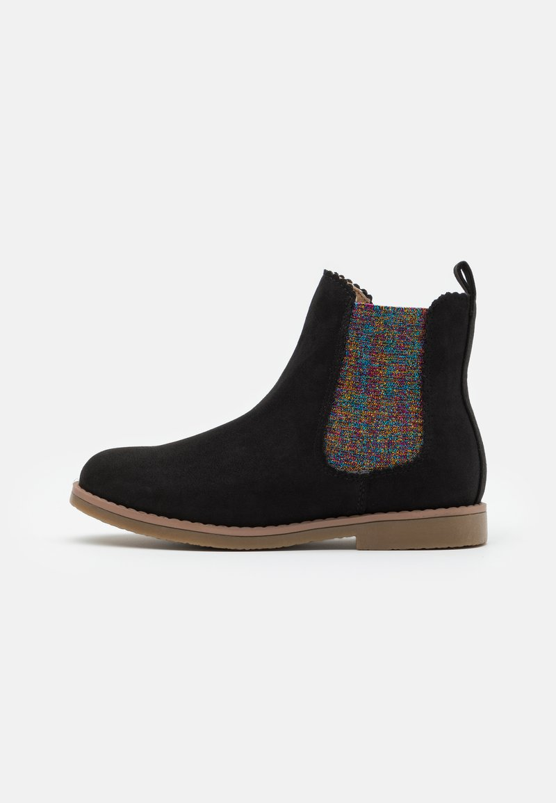 Cotton On - SCALLOP GUSSET BOOT - Classic ankle boots - washed black/rainbow scallop