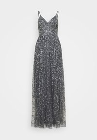 Maya Deluxe - STRAPPY ALL OVER MAXI DRESS - Ballkjole - charcoal - 0