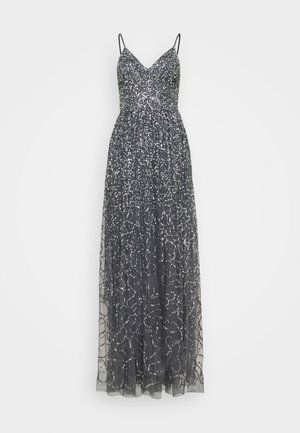 STRAPPY ALL OVER MAXI DRESS - Galajurk - charcoal