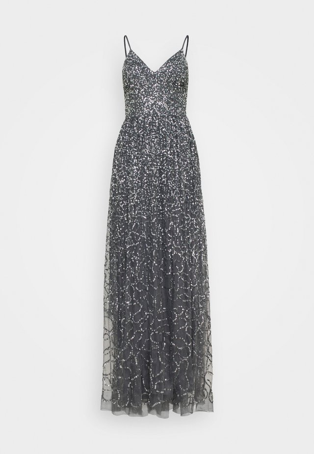 STRAPPY ALL OVER MAXI DRESS - Festklänning - charcoal
