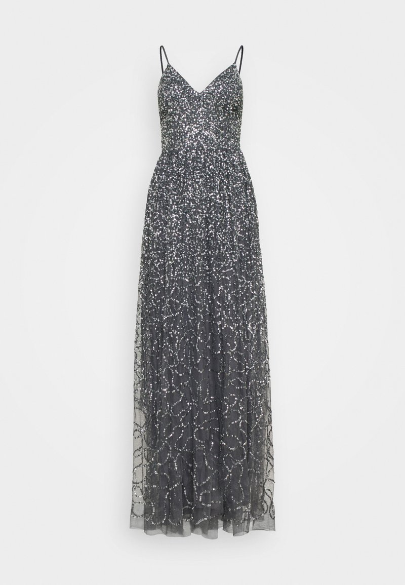 Maya Deluxe - STRAPPY ALL OVER MAXI DRESS - Ballkjole - charcoal