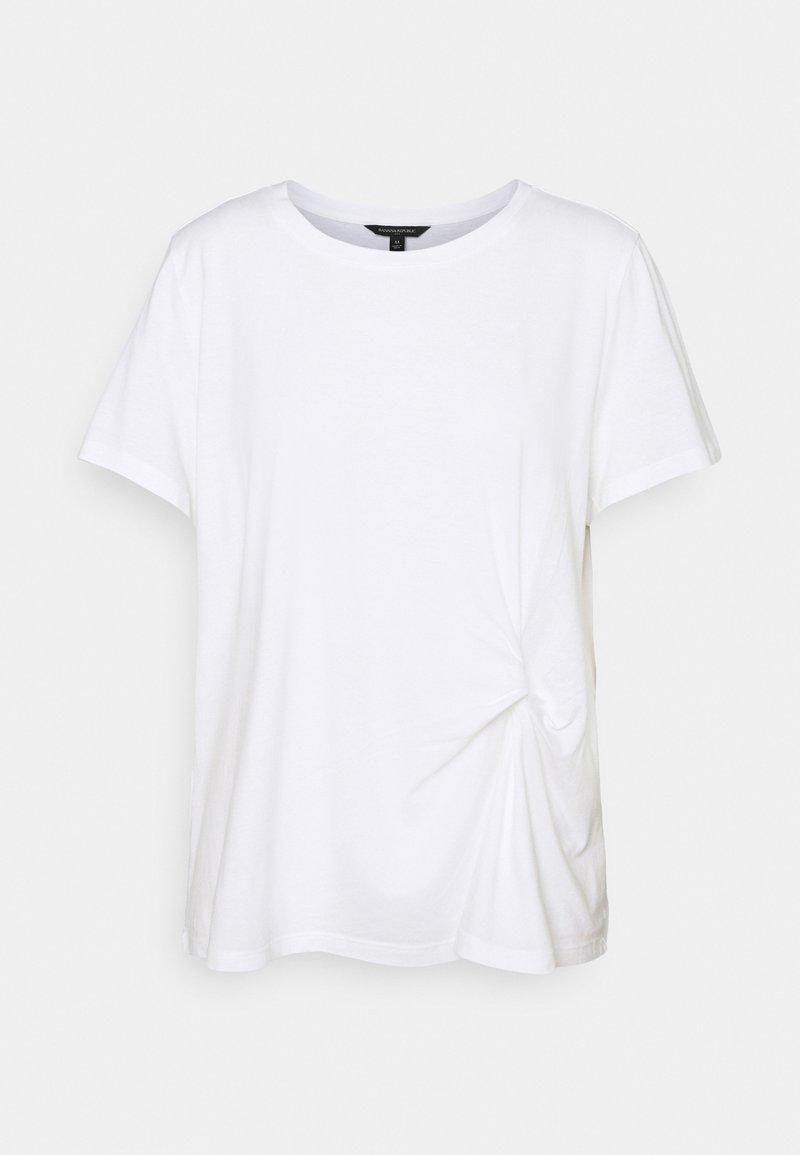 Banana Republic - PLEAT FRONT - Basic T-shirt - white