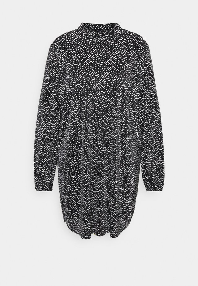 MONO PLISSE HIGH NECK SWING DRESS - Sukienka letnia - black