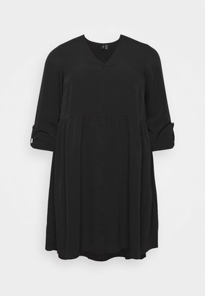 VMGABRINA SHORT SHIRT DRESS - Robe d'été - black
