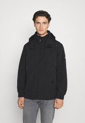 ESSENTIAL HOODED JACKET - Lehká bunda - black