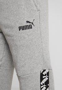 Puma - AMPLIFIED  - Tracksuit bottoms - medium gray heather - 5