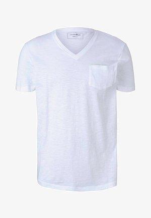 MELIERTES MIT BRUSTTASCHE - Basic T-shirt - white