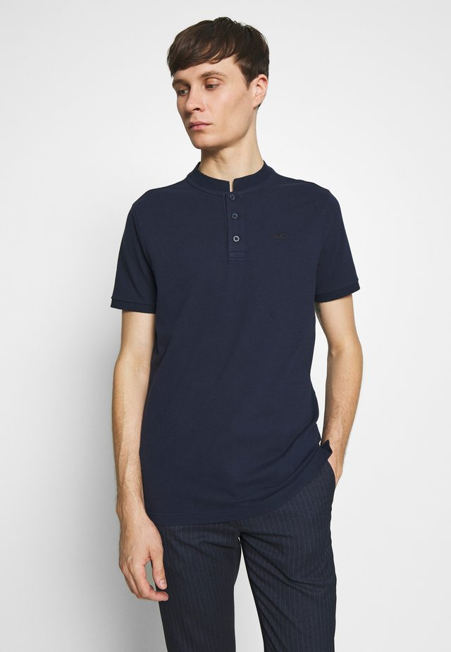 BANDED COLLAR - Polo - navy