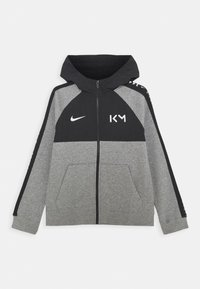 Nike Performance - KYLIAN MBAPPE HYBRID HOODIE - Zip-up hoodie - carbon heather/black/white - 0