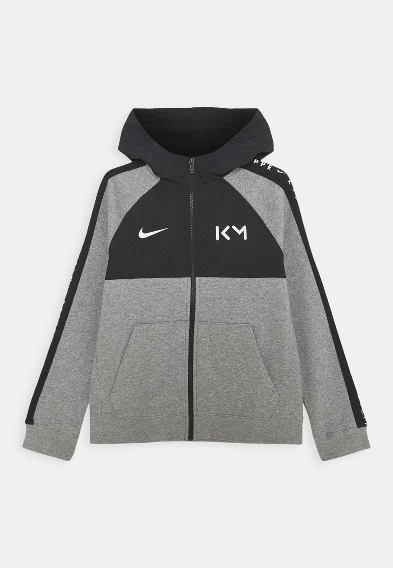Nike Performance - KYLIAN MBAPPE HYBRID HOODIE - Zip-up hoodie - carbon heather/black/white